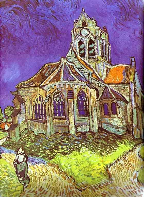 Vincent van Gogh. The Church in Auvers. June 1890. Oil on canvas. Muse ...