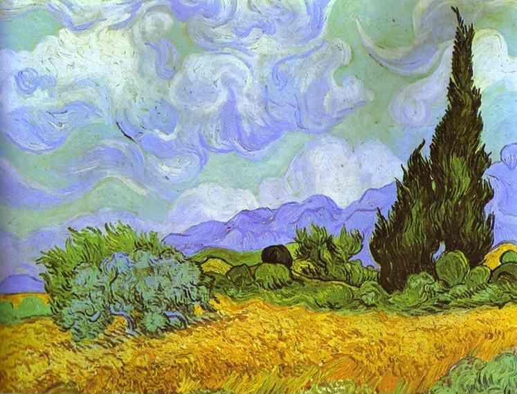 Vincent van Gogh. Wheat Field with Cypresses. Saint-Rémy.