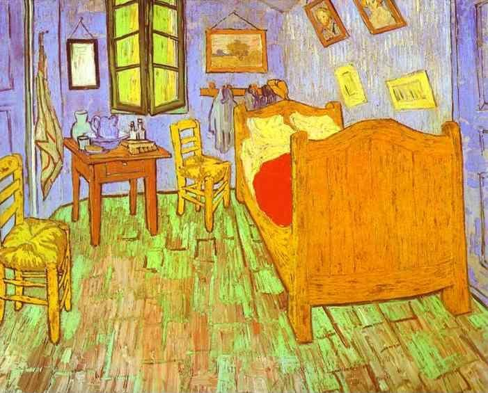 Vincent van Gogh. Van Gogh's Bedroom in Arles. Saint-Rémy.