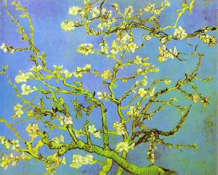 Vincent van Gogh. Branches of Almond tree in Bloom. Saint-Rémy.