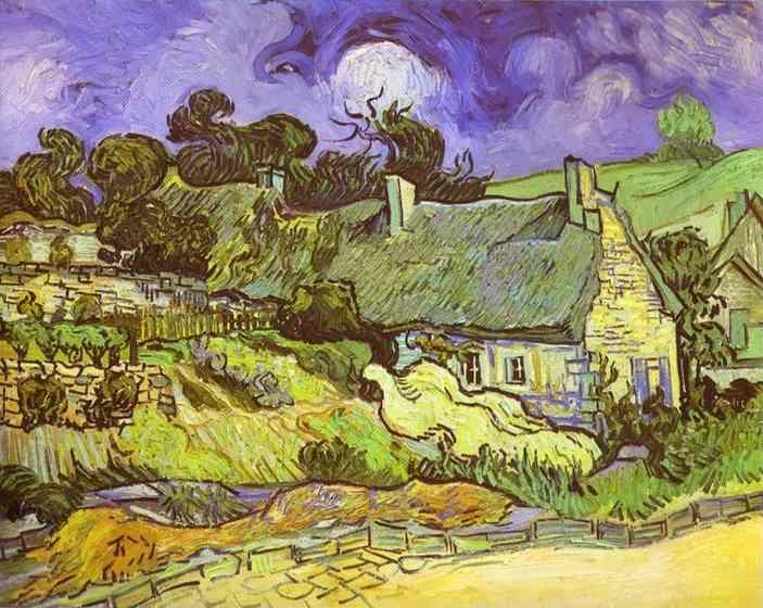 Vincent van Gogh. Cottages with Thatched Roofs. Auvers-sur-Oise.