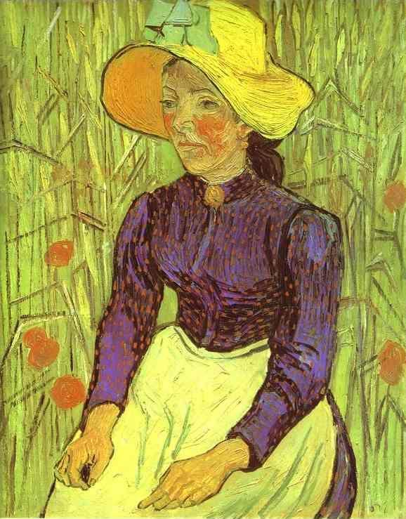 Vincent van Gogh. Peasant Woman with Straw Hat. Auvers-sur-Oise.
