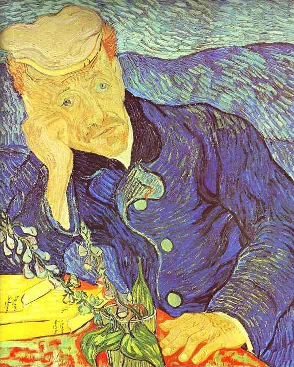 Vincent van gogh portrait of dr gachet seated at a table for Ciao bambini van gogh