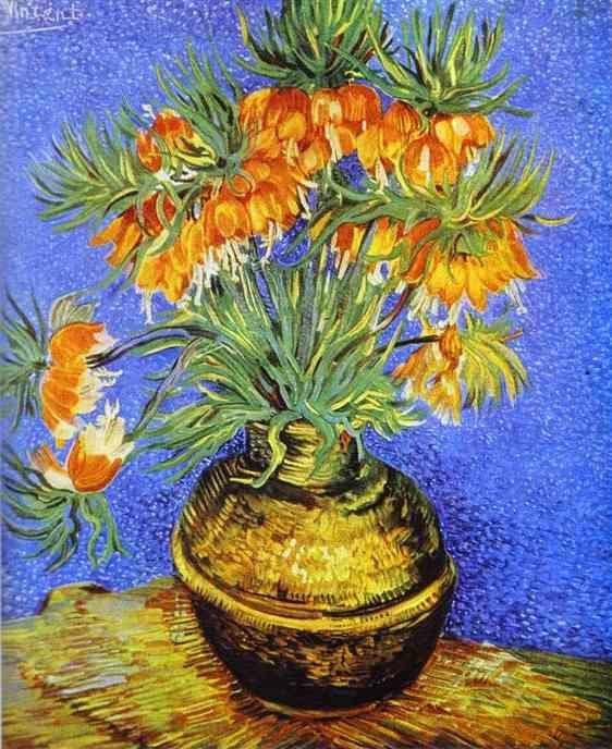 Vincent van Gogh. Imperial Crown Fritillaria in a Copper Vase.