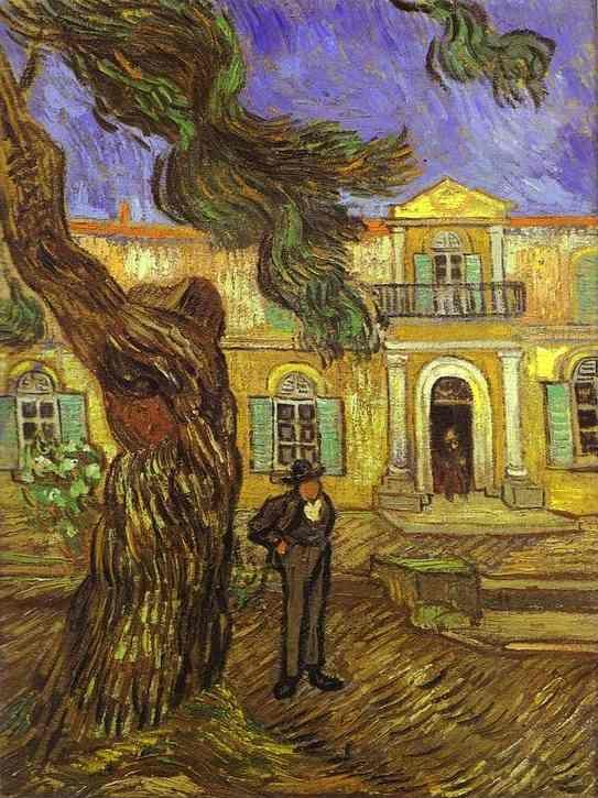 Vincent van Gogh. Tree and Man (in front of the Asylum of Saint-Paul, St. Rémy).