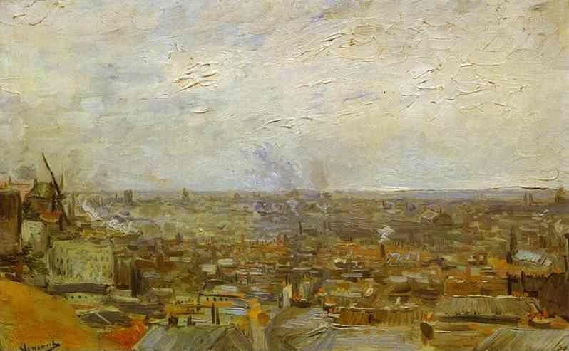 Vincent van Gogh. View of Paris from Montmartre.