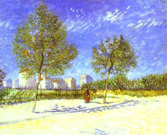 Vincent van Gogh. On the Outskirts of Paris.