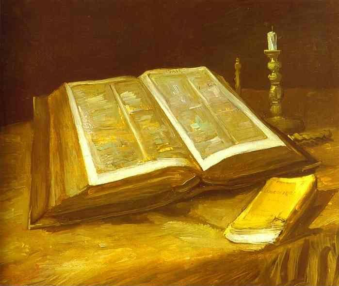 Vincent van Gogh. Still Life with Open Bible.