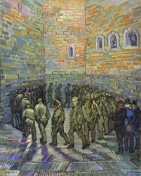 Vincent van Gogh. The Prison Courtyard.