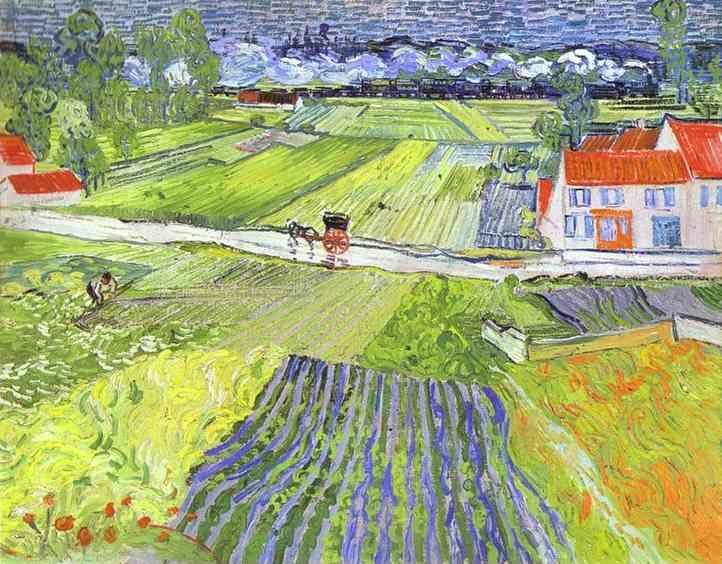 Vincent van Gogh. A Road in Auvers after the Rain.