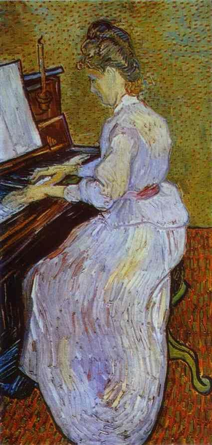 Vincent van Gogh. Mademoiselle Gachet at Piano.
