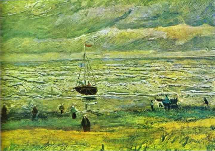 Vincent van Gogh. Seashore at Scheveningen.