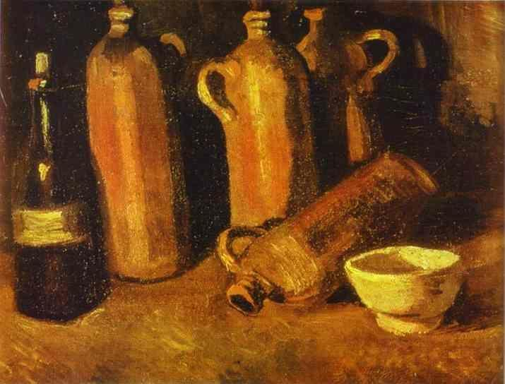 Vincent van Gogh. Still Life with Four Jugs.