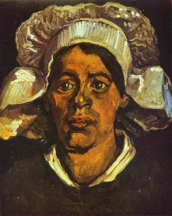 Vincent van Gogh. A Peasant Woman in White Cap.