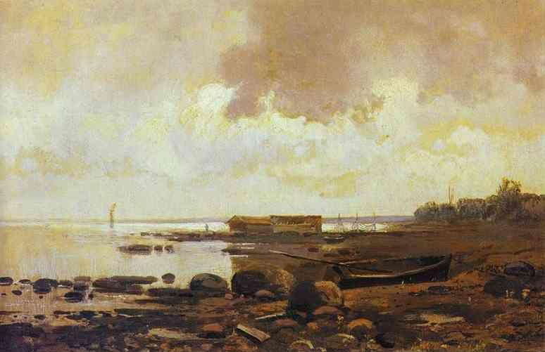 Feodor Vasilyev. The Shore. Cloudy Day.
