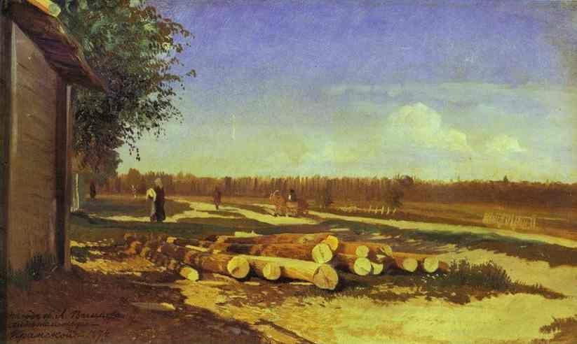 Feodor Vasilyev. Logs By the Road.