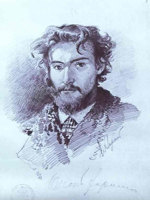 Feodor Vasilyev. Self-Portrait.