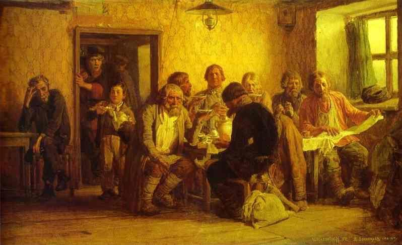 Victor Vasnetsov. Tea-Drinking in a Tavern.