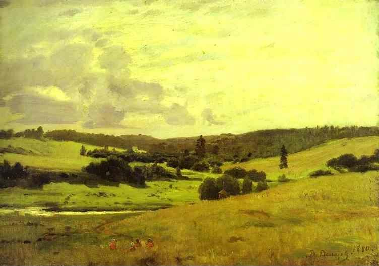 Victor Vasnetsov. The Voria River's Valley near the Village of Mutovka.