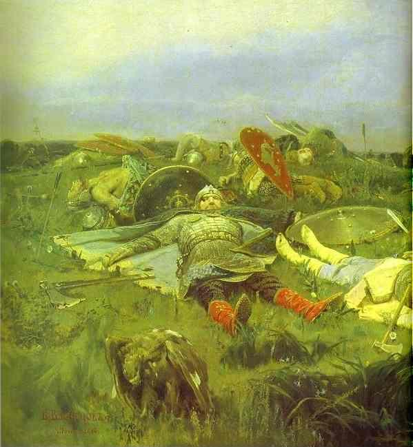 Victor Vasnetsov. After Prince Igor's Battle with the Polovtsy. Detail.