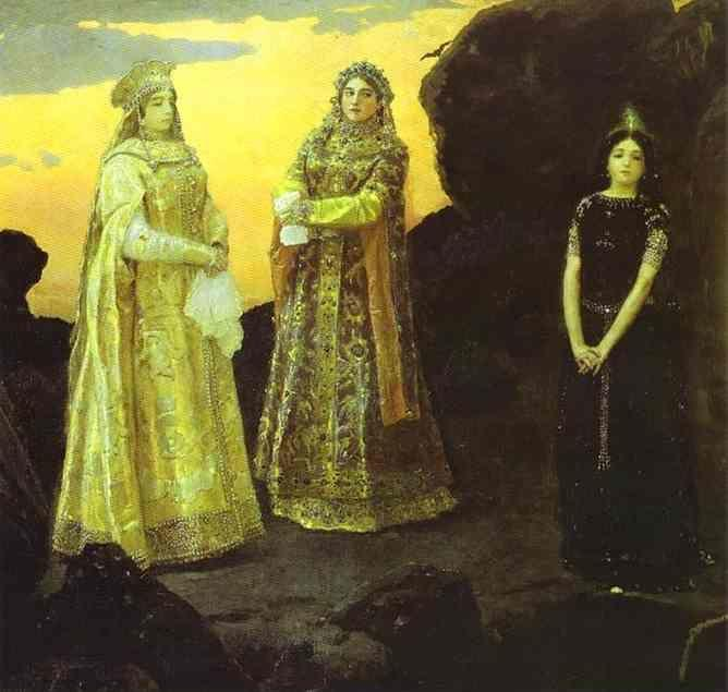 Victor Vasnetsov. Three Tsarevnas of the Underground Kingdom.