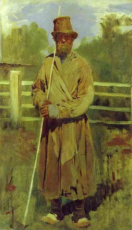 Victor Vasnetsov. Peasant with a Pole.