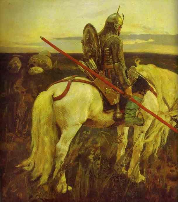 Victor Vasnetsov. A Knight at the Crossroads. Detail.