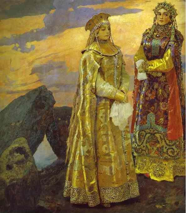 Victor Vasnetsov. Three Tsarevnas of the Underground Kingdom. Detail.
