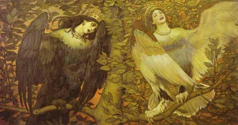 Victor Vasnetsov. Sirin and Alkonost; The Birds of Joy and Sorrow.