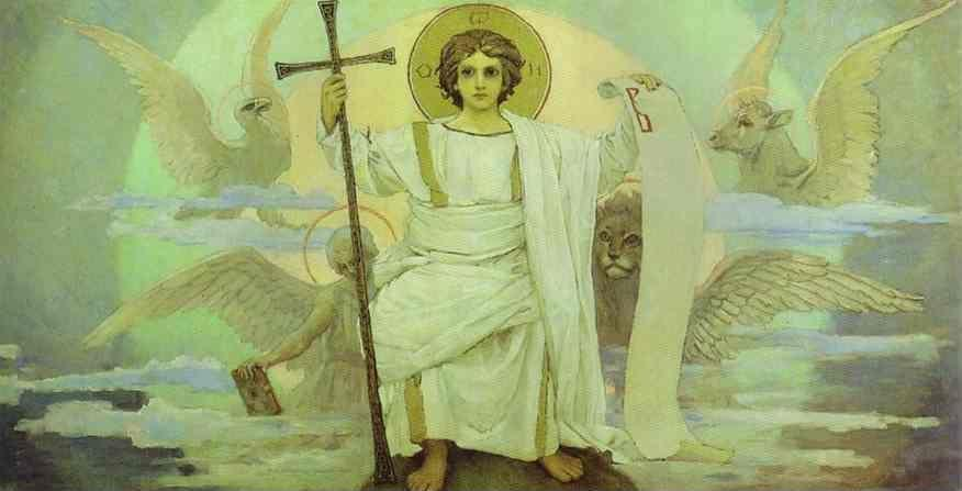 Victor Vasnetsov. Sketch for a fresco in the Cathedral of St. Vladimir in Kiev.