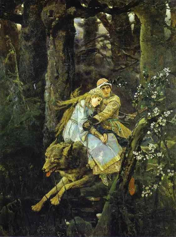 Victor Vasnetsov. Ivan Tsarevich Riding the Grey Wolf.