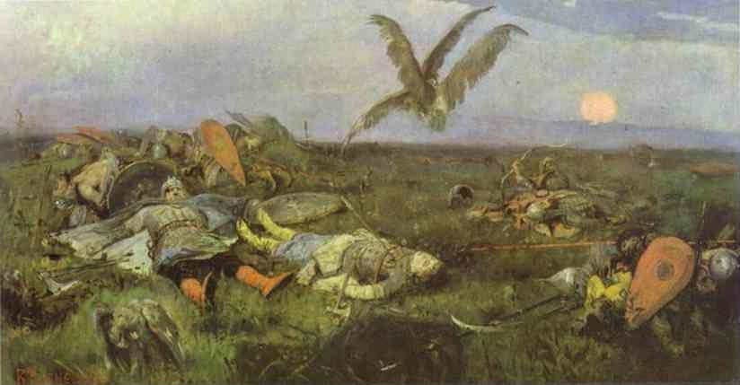 Victor Vasnetsov. After Prince Igor's Battle with the Polovtsy.
