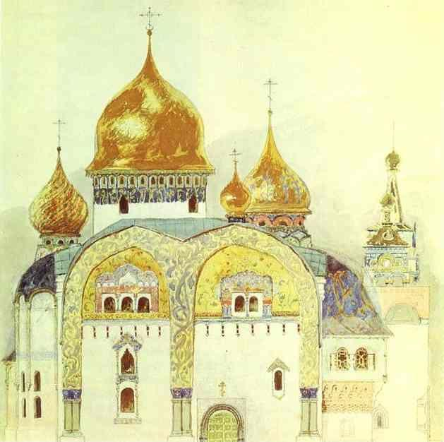 Victor Vasnetsov. Sketch for a church in an old Russian style.