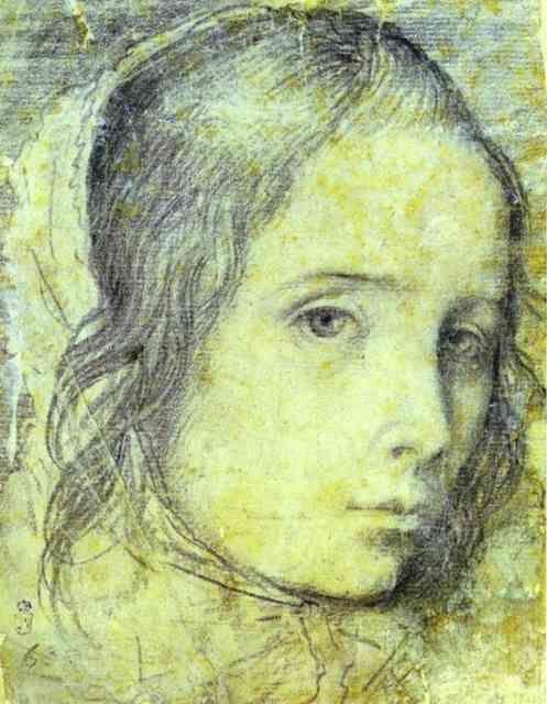 Diego Velázquez. Head of a Girl.