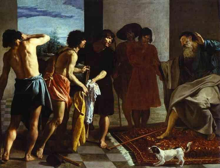 Diego Velázquez. Joseph's Bloody Coat Brought to Jacob.