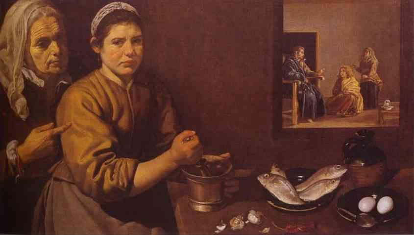 Diego Velázquez. Christ in the House of Martha and Mary.