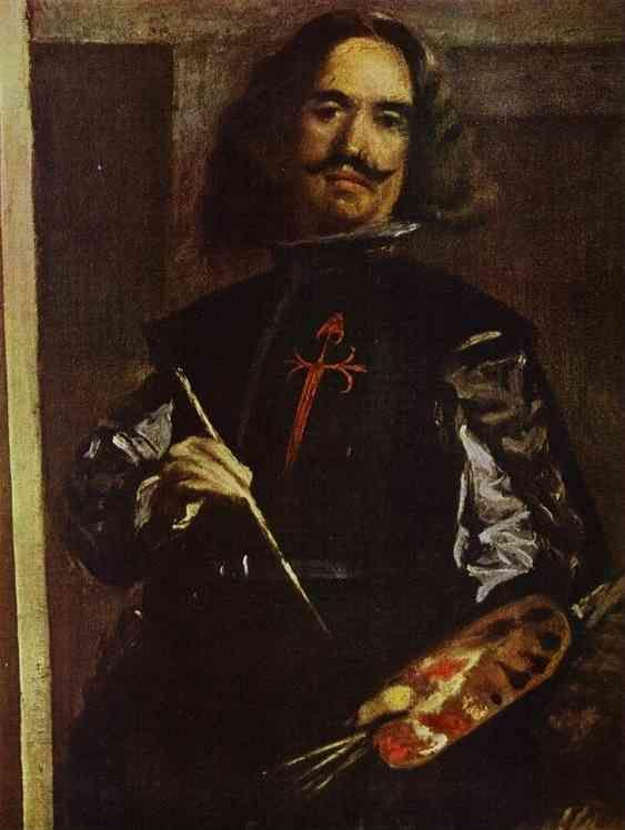 Diego Velázquez. Las Meninas (The Maids of Honor) or the Royal Family. Detail. Self-Portrait.