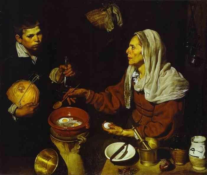 Diego Velázquez. Old Woman Frying Eggs.