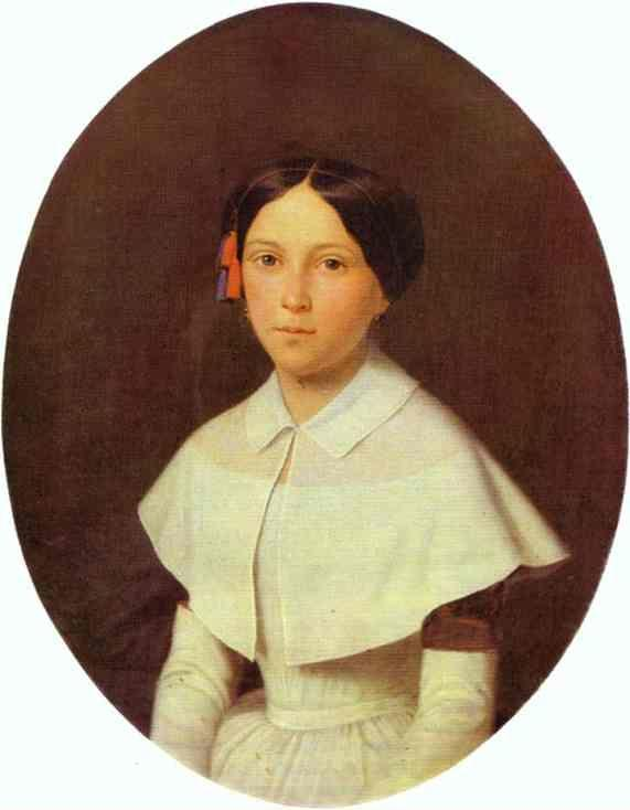 Fedor Slavyansky. Portrait of a Student of Smolny Institute for Young Ladies.