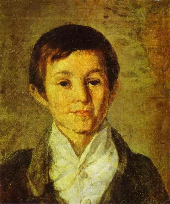 Grigoriy Soroka. Portrait of K. N. Milyukov as a Child.