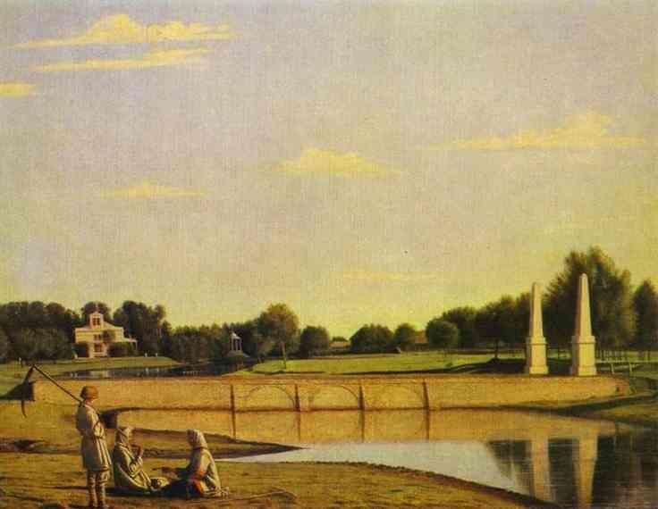 Grigoriy Soroka. View of the Dam in the Estate of Spasskoe.