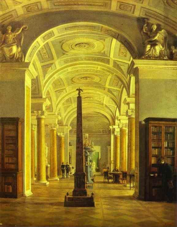 Alexey Tyranov. View on the Hermitage Library.