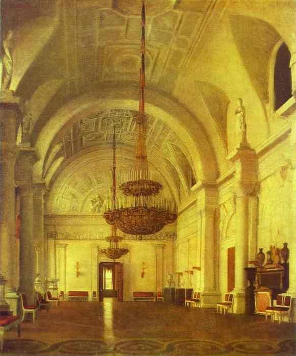 Sergey Zaryanko. The White Hall in the Winter Palace.