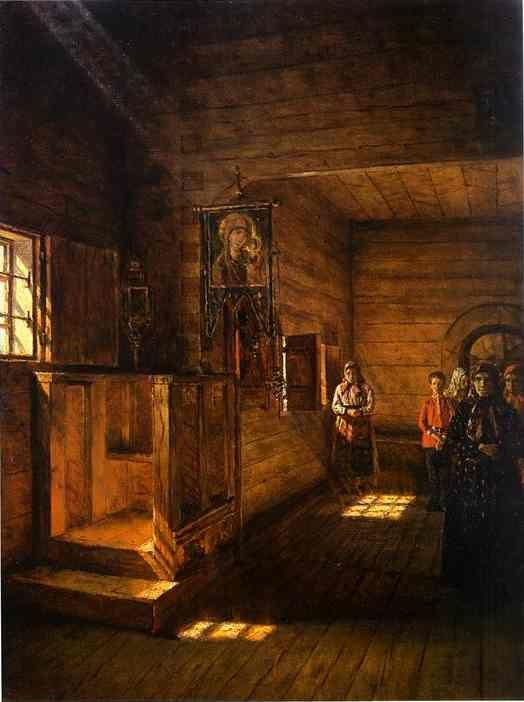 Vasily Vereshchagin. Interior of the Church of St. John the Evangelist on the Ishna near Rostov Yaroslavsky.