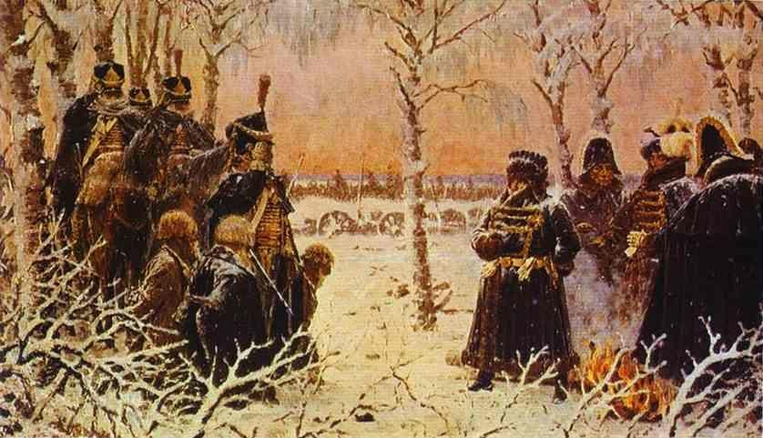 "Vasily Vereshchagin. ""Captured with arms? Shoot them!""."