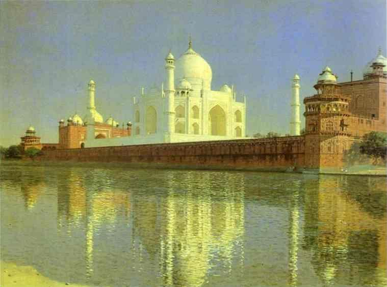 Vasily Vereshchagin. Taj Mahal Mausoleum in Agra.