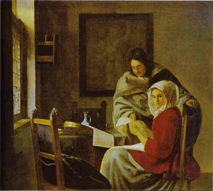 Jan Vermeer. Girl Interrupted at Her Music.