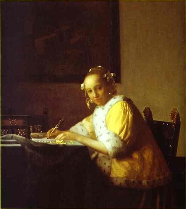 Jan Vermeer. Lady Writing a Letter.