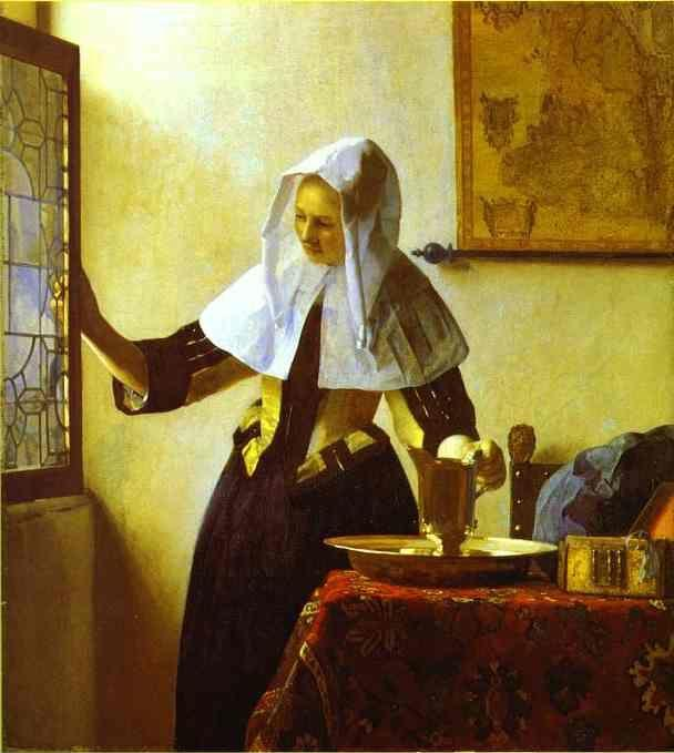 Jan Vermeer. Woman with a Water Jug.