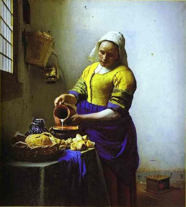 Jan Vermeer. The Milkmaid.